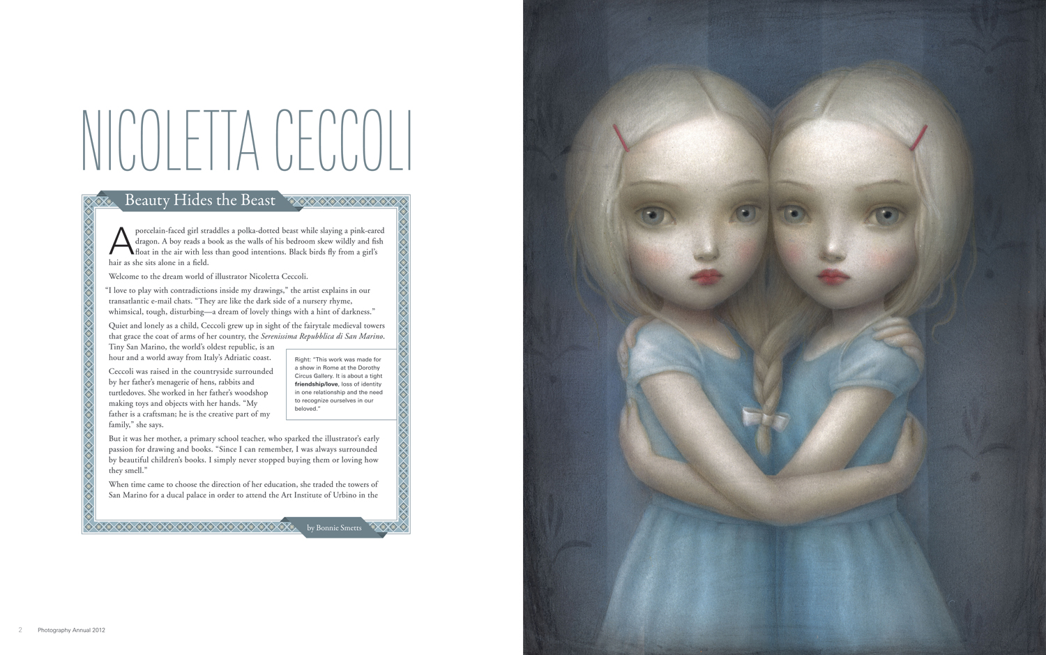 Communication Arts magazine: Nicoletta Ceccoli feature article