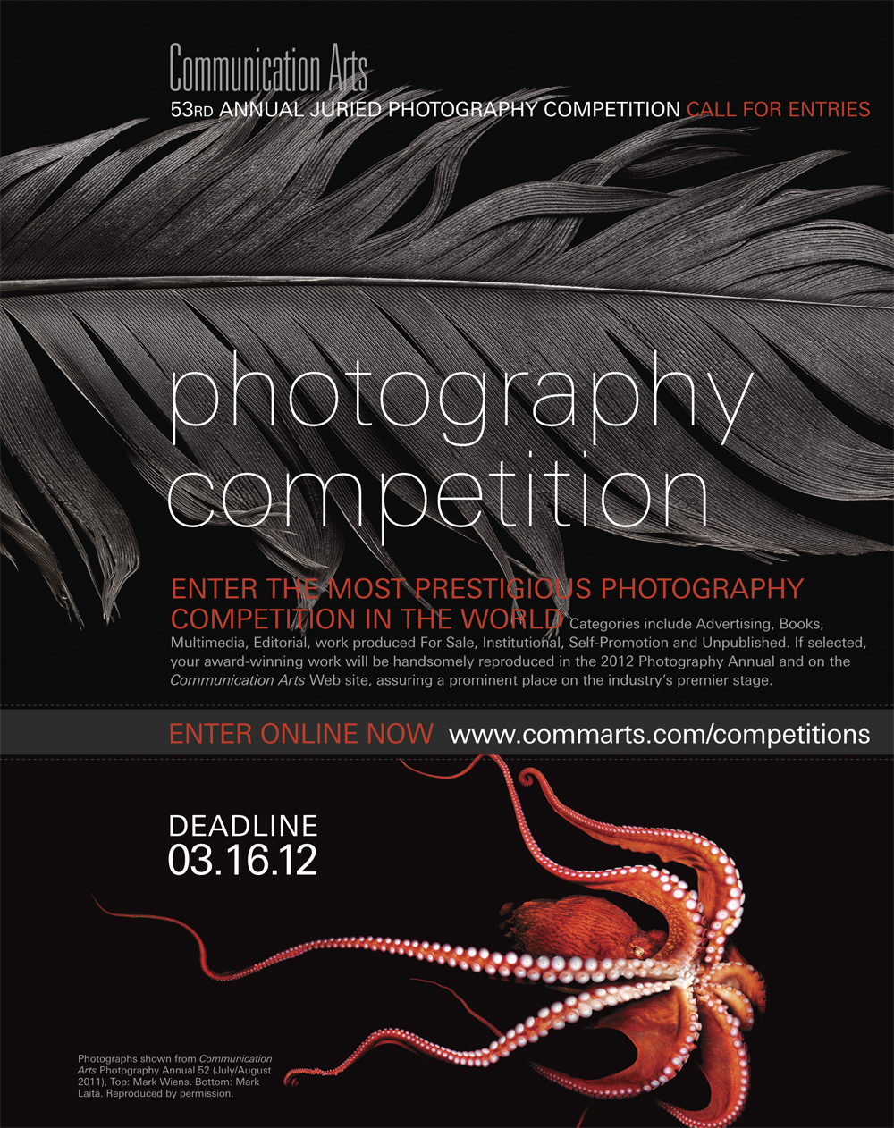 Communication Arts magazine: Photography Competition 2012