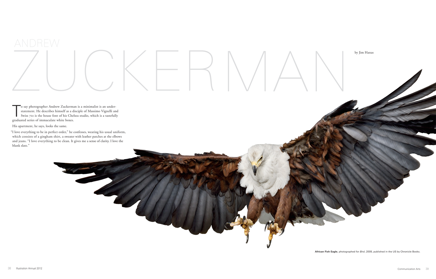 Communication Arts magazine: Andrew Zuckerman feature article